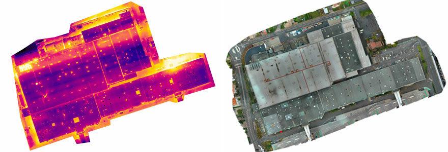 Inspection thermique par drone